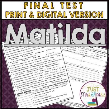 Matilda Final Test