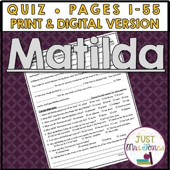 Matilda Quiz #1