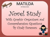 Matilda by Roald Dahl Novel Study Graphic Organizers/Think