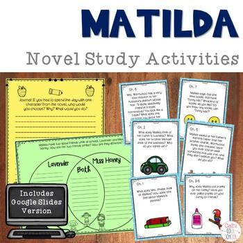 Matilda by Roald Dahl Read Aloud Activities