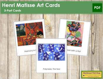 Matisse (Henri) 3-Part Art Cards