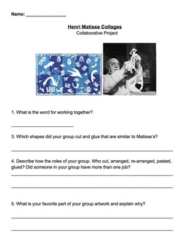 Matisse Worksheet