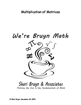 Matrices - Multiplication 1