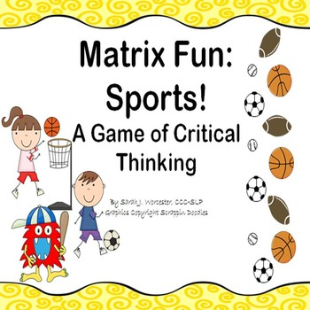 Matrix Fun: Sports!  A Critical Thinking Game
