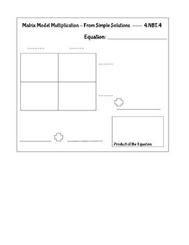 Matrix Multiplication Notebook Page