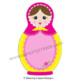 Matryoshka Dolls: Russian Nesting Dolls - Frames, Clip Art