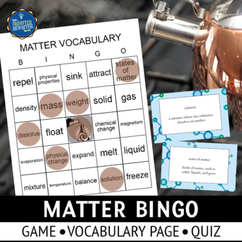 Matter Vocabulary Bingo