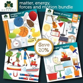 Matter, Energy, Forces and Motion Clip Art Bundle