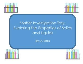 Matter Investigation Sheet