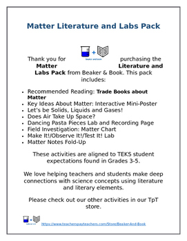Matter Literature and Labs Pack