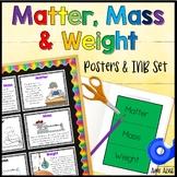 Matter Mass Weight Poster and Interactive Notebook INB Set
