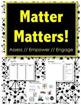 Matter Matters - ASSESSMENT & DIAGNOSTIC - Sorting // Cut