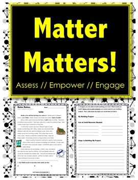 Matter Matters - SOLIDS - Science // Reading // Writing //