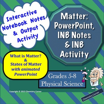 States of Matter PowerPoint with INB Notes & Acitivity