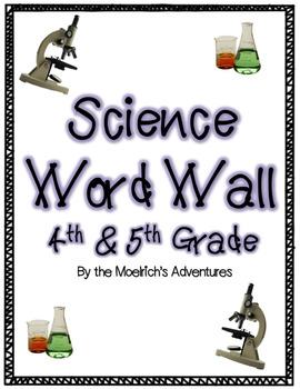 Science Word Wall - Virginia (SOL 4th grade 4.1 to 4.6 & S