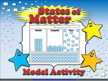 Matter: Solid, Liquid, and Gas States of Matter Model Acti