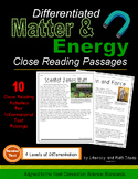 Matter and Energy Close Reading Passages Differentiated (G