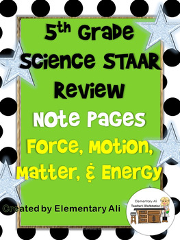 Matter and Energy + Force, Motion, and Energy Review Activ