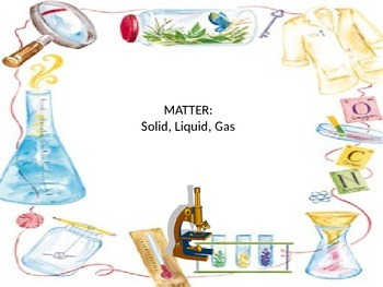 Matter- solid, liquid, gas