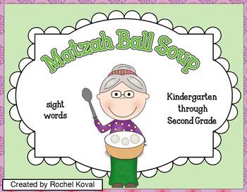 Passover Matzah Ball Soup - Sight words K-2