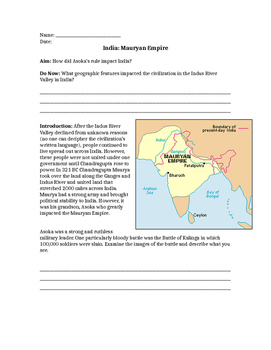 Mauryan Empire & Asoka