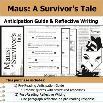 Maus - A Survivor's Tale - Anticipation Guide & Reflection