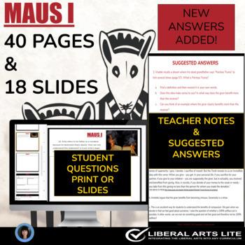 Maus I (test; essay questions; detailed answer key; teache