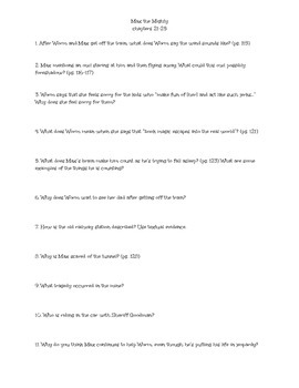 Max the Mighty Comprehension Questions Chapters 21-25