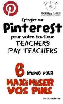 Pinterest & TpT: Maximiser nos produits