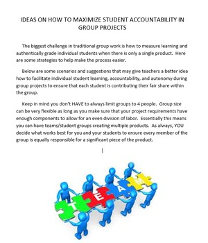 Maximize Accountability in Group Work