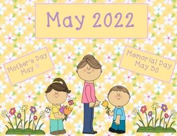 May 2016 Activboard Calendar Activities