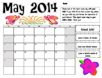 May 2014 Behavior Log