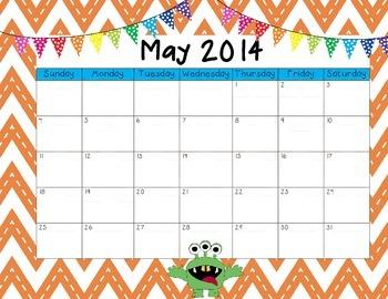 May 2014 Calendar Freebie!!
