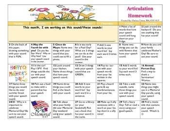 May 2015 Articulation Calendar