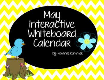 May 2017 Interactive Whiteboard Calendar
