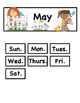 May ABCB Patterned Calendar Cards: Fit Small and Regular C