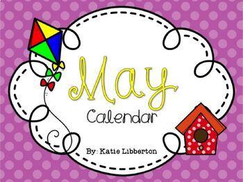 May 2017 Kindergarten ActivInspire Calendar