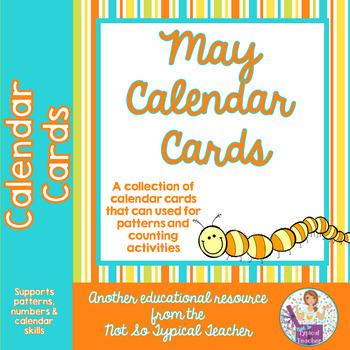 May Calendar Cards for Patterns & Counting