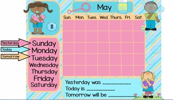 May Calendar Flipchart for ActivInspire