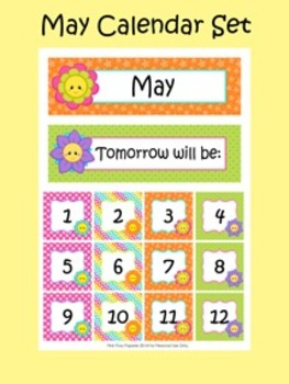 May Calendar Set - Numbers - Days of the Week