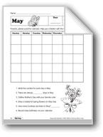 May Calendar and May Day Activities
