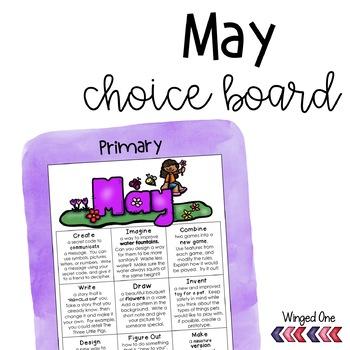 May Early Finishers: Choice Board