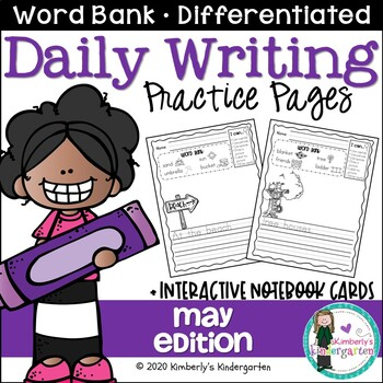 Daily Writing Journal Pages for Beginning Writers: May Edi