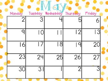 May EDITABLE Calendar
