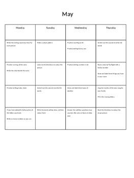 May Homework Calendar Package