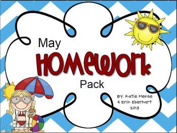 May Homework Pack for Kindergarten