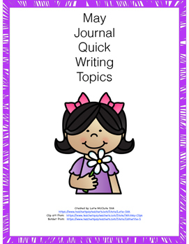 May Journal Quick Writing Topics Preview