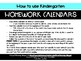 May Kindergarten Homework Calendar *Common Core Aligned*