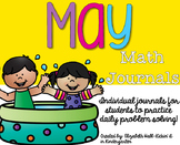 May Kindergarten Math Journals