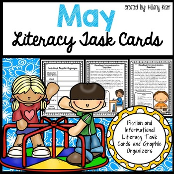 May Literacy Task Cards
